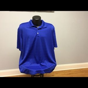 Chaps 78 XL SS solid blue polo shirt